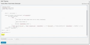 Edit Themes - footer.php