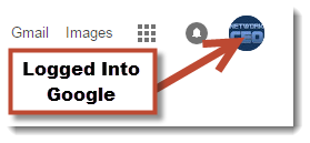Logged Into Google